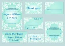 Set Hochzeitskarten Lizenzfreies Stockfoto