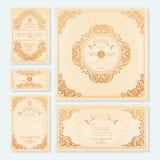 Set Hochzeitskarten stock abbildung