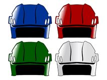 Set of hockey helmet Stock Photography