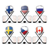 Set hockey icon or  logo Stock Photo