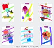 Set Holi festiwal Obrazy Royalty Free