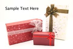 Set of holiday boxes Royalty Free Stock Photos