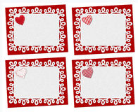 Set of holiday cards. St. Valentines day Stock Photo