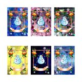 Set of holiday christmas cards with funny snowman on a colorful mosaic background. Copy space. Can be used as a greeting ecard for social networks. Vector clip Stock Illustration