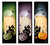 Set of holiday Halloween banners. Stock Image
