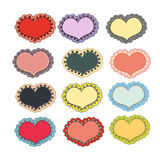 Set of holiday hearts Stock Photography