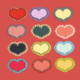 Set of holiday hearts Stock Image