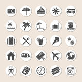 Set Of Holiday Icons Stock Photos