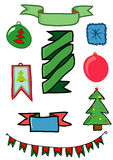 Set of holiday items for Christmas and the new year Royalty Free Stock Photos