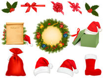 Set of holiday objects. Stock Photos