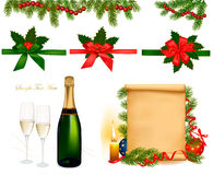 Set of holiday objects. Vector Stock Image