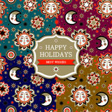 Set of holiday package with sun and stars Royalty Free Stock Photography