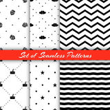 Set Of Holiday Patterns2 Royalty Free Stock Photos