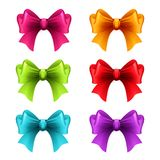 Set of holiday ribbon with bow Royalty Free Stock Images