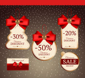 Set for holiday sales Royalty Free Stock Image