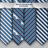 Set of holiday seamless white and blue pattern, fashion hipster Royalty Free Stock Images
