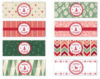 Set of 8 Holiday Theme Facebook Timeline Covers Isolated on White Royalty Free Stock Photos