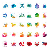 Set of holidays icons Stock Images