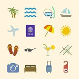 Set of holidays icons, contrast color Stock Image