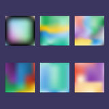 Set of Hologram bright colorful backgrounds Stock Photography