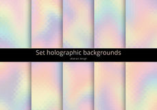 Set holographic background Stock Image