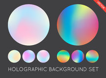 Set of Holographic Trendy Backgrounds. Can be used for Cover, Bo Stock Photo