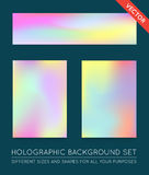Set of Holographic Trendy Backgrounds. Can be used for Cover, Bo Royalty Free Stock Photography