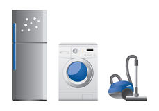 Set of home appliance icons Stock Photo