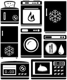 Set home appliance for kitchen Royalty Free Stock Image