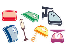 A set of home appliances Royalty Free Stock Image
