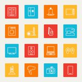 Set of home appliances and electronics icons Royalty Free Stock Photography