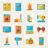 Set of home appliances and electronics icons.  royalty free illustration