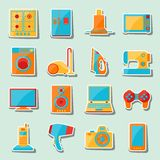 Set of home appliances and electronics icons Royalty Free Stock Photo