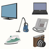 Set of home appliances. Flat style. vector illustration Royalty Free Stock Photography