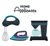 set home appliances icons Royalty Free Stock Photography