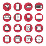 Set of home appliances icons set vector Stock Photos