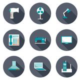 Set of home appliances icons Stock Image