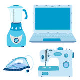 Set of home appliances. Vector image of electronics. Household equipment illustration Stock Photos
