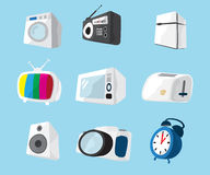 Set of home electronics appliances icon Royalty Free Stock Photography