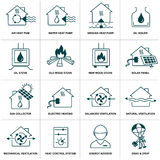 Set of home energy icon Royalty Free Stock Images
