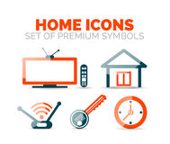 Set of home equipment and elements icons Royalty Free Stock Image