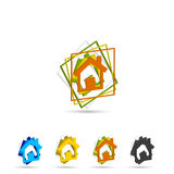 Set of home icon Royalty Free Stock Image