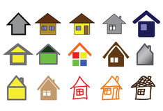 Set of home icons Royalty Free Stock Photos