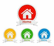 Set of home icons and labels Royalty Free Stock Photo