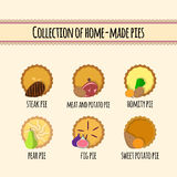 Set of home made pies Stock Photo