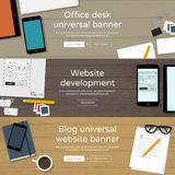 Set of home page website banners Stock Photo