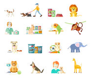 Set of home pets Stock Photos