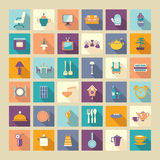 A set of home related icons elements-illustation Royalty Free Stock Image