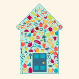 A set of home related icons elements-illustation Stock Photo