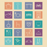 Set of  home related icons elements-illustation Stock Images